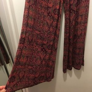 Urban Outfitters Ecoté wide legged patterned pants